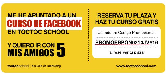 Cupon Promocion 5 Amigos Curso Gratis - toctoc school